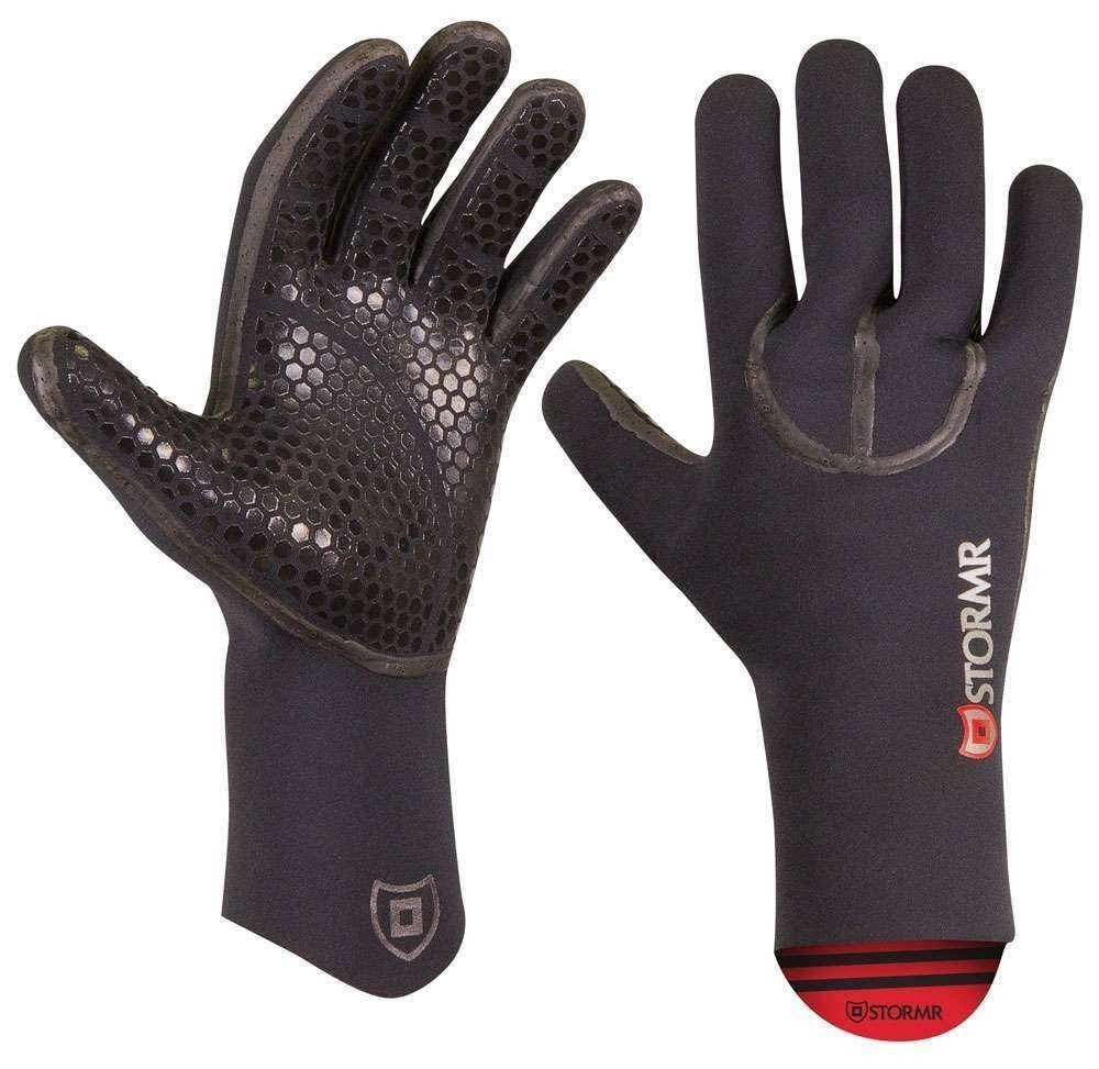 Stormr Typhoon Women and Men's Durable Yet Comfortable Fishing Glove with High Stretch Premium Micro-fleece Lined 3MM Neoprene: Best Used for Ice Fishing, Winter Conditions, and Foul Weather (Black, Medium)