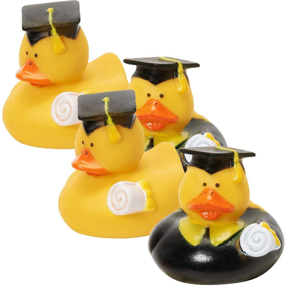 12 Graduation Graduate RUBBER Ducky DUCK Party Favors OTC 3L-38-426 One Dozen