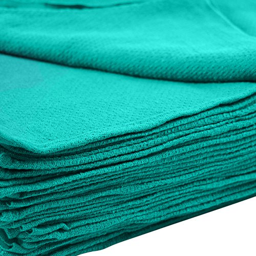 "MIMAATEX Huck Towels -50 Piece Pack -16""x 24""- NEW 100% Cotton Super Absorbent-Lint Free (Green)"