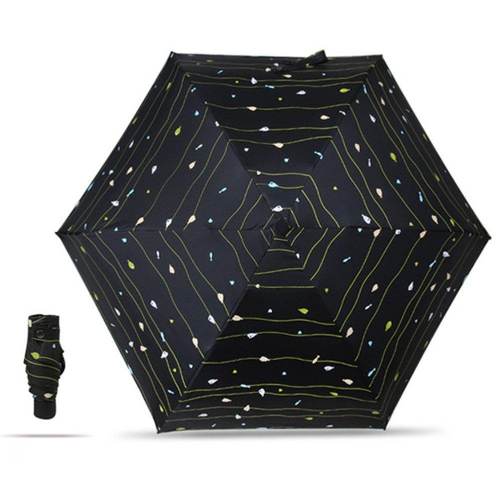 Ultra light Mini Compact Travel Umbrella Windproof Folding Golf Umbrella With 95% UV Protection (G)