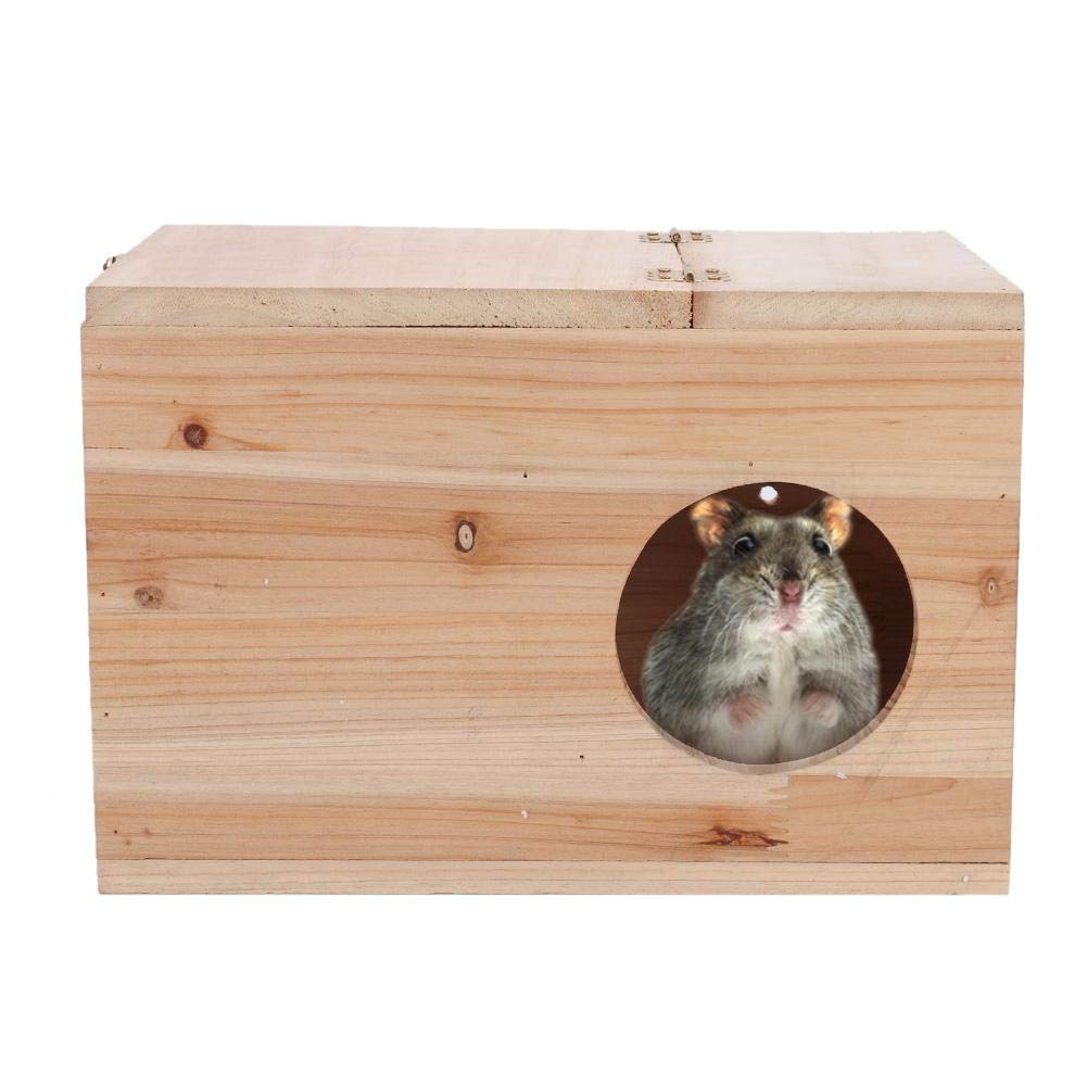 Hamster Mating Breeding Box Parrot Breeding Nest Box Left Open Window Large Size Bird Wood Hatching Box for Small Animal Chinchilla Squirrel by Hffheer