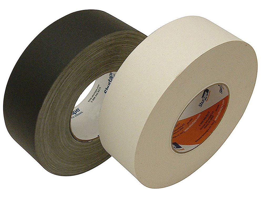 Seforim and Book Binding Special - Shurtape - 4 Rolls Total of Black and White, 2-inch Wide Book Binding Tape by Shurtape