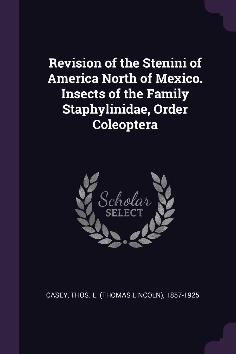 Revision of the Stenini of America North of Mexico. Insects of the Family Staphylinidae, Order Coleoptera pdf