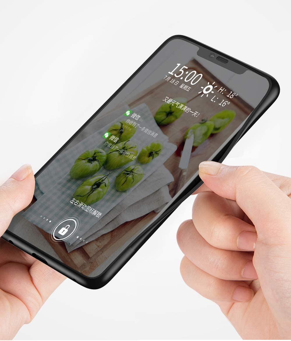 Felfy Kompatibel mit iPhone XS Max H/ülle Schwarz,Kompatibel mit iPhone XS Max Handyh/ülle Geh/ärtetes Glas Back Case Marmor Muster Schutzh/ülle TPU Silikon /& Glas Hart Case Kratzfest Tasche Cover