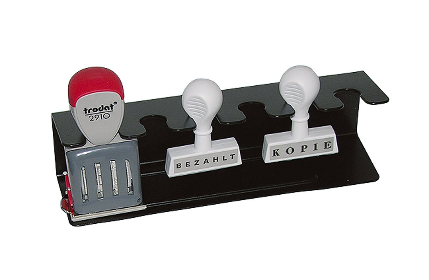 Wedo 0640601 Stamp Rack 6 Compartments Right Black