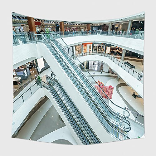 Home Decor Tapestry Wall Hanging Interior Of Modern Shopping Mall for Bedroom Living Room - Shopping Mall Delaware