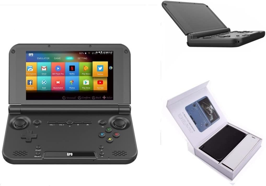"GPD XD Plus [Official distributor,Latest HW & Most Stable Update] Foldable Handheld Game Consoles 5"" Touchscreen, Android 7.0 Fast Mediatek MT8176 Hexa-core 2.1GHz CPU, 4GB RAM/32GB ROM: Electronics"