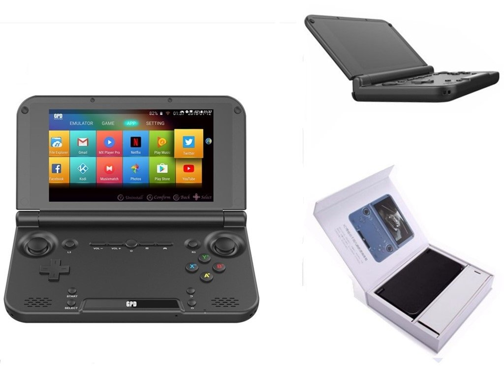"GPD XD Plus [2019 Update] Foldable Handheld Game Consoles 5"" Touchscreen, Android 7.0 Fast Mediatek MT8176 Hexa-core 2.1GHz CPU, 4GB RAM/32GB ROM, 6000mAh Li-ion Battery"