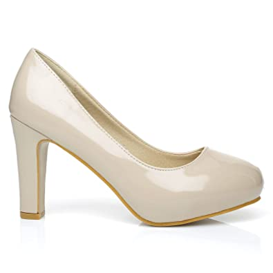 ShuWish UK  Love Damen Pumps beige Hautfarben - Nude Patent
