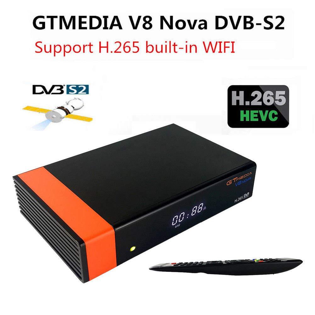 Redcolourful GT//Media V8 Nova DVB-S2 Receptor de sat/élite Freesat H.265 con WiFi