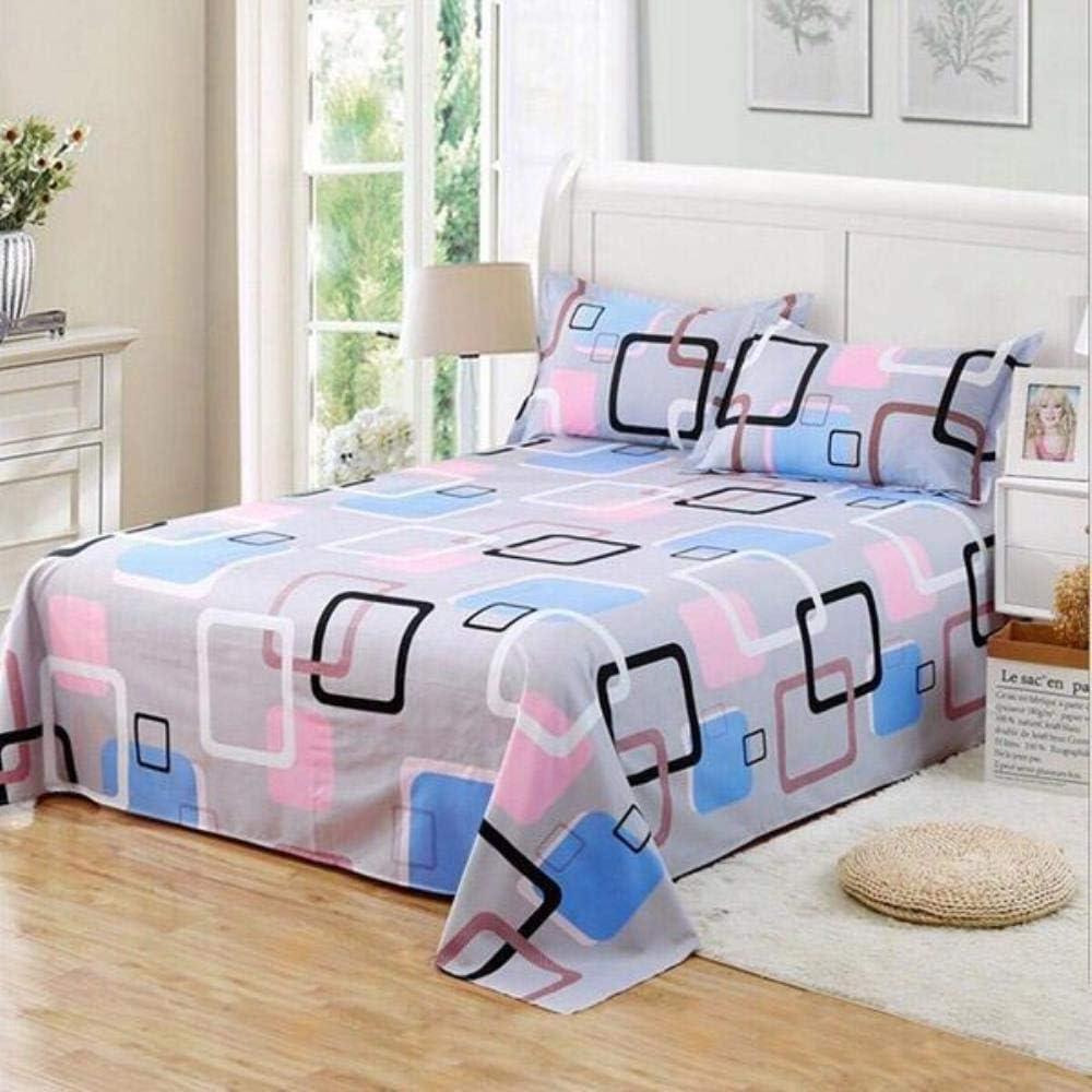 EKL Bed Flat Sheet Polyester//Cotton Bed Sheet Set Child Kids Adults Full Bedspread Mattress Protector Cover Pillowcase,8,110cmX220cm