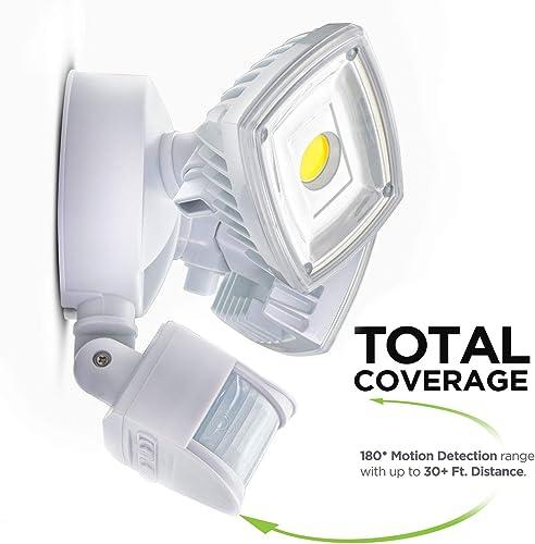 Home Zone Security Motion Sensor Light – Outdoor Weatherproof Ultra Bright 5000K LED Flood Lights