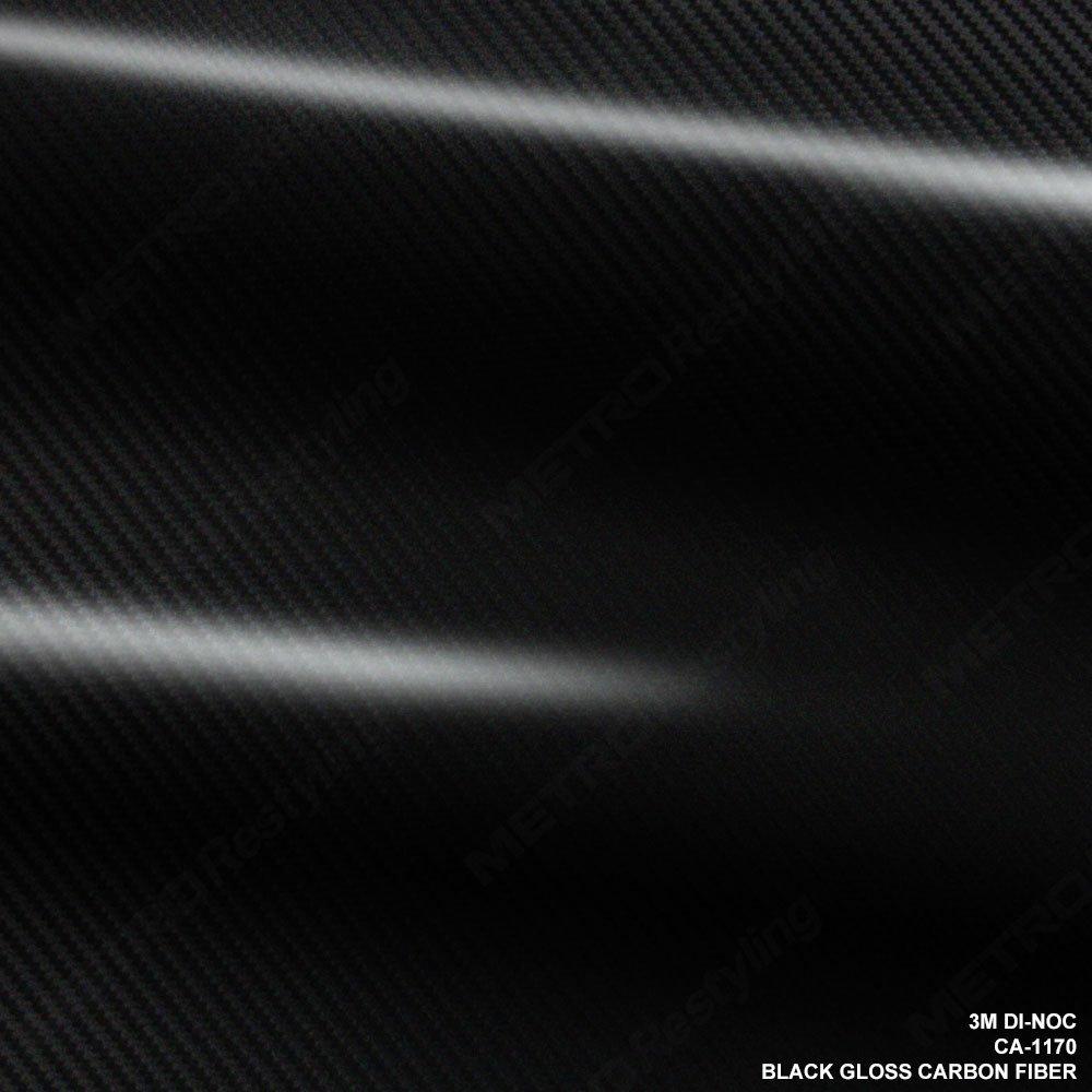 3M CA-1170 DI-NOC GLOSS BLACK CARBON FIBER 4ft x 6ft (24 Sq/ft) Flex Vinyl Wrap Film