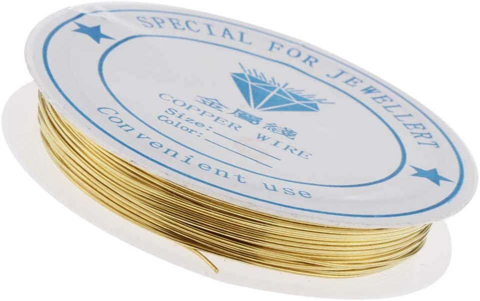0,25 mm Homyl Goldfarbig Basteldraht Metalldraht Kupferdraht Schmuckfaden Schmuckdraht DIY Schmuck Herstellen