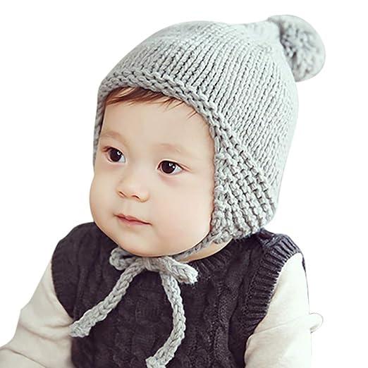 7a0985411 Amazon.com: Zoylink Winter Knit Hat Infant Cute Hat Baby Warm Hat ...