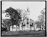 Photo: Dartmouth College Church,Christ,universities,flag,Hanover,New Hampshire,NH,1900