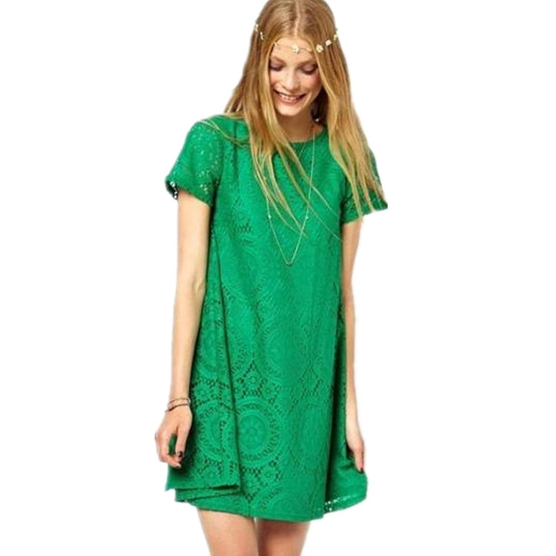 Fanessy Frühling kurze Ärmel Kleid Casual Kleider T-shirts Rock sweatkleid