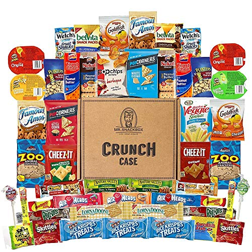 Mix Sweets Gift Box - Mega Snacks (50 Count) Variety Care Package Gift Box - College Students, Military, Work or Home - Over 3 Pounds of Snacks!