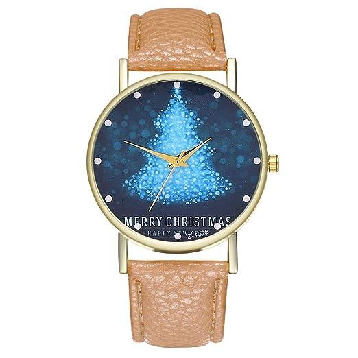 Reloj de Moda Casual con Estampado de árboles de Navidad de Camuflaje LILICAT❋, Relojes