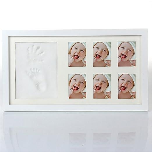 Holzsammlung Kit de Marco de Huellas de Mano y Pie de Bebé, Recuerdo Perfecto Para una Ducha de Bebé o Regalo de Bautizo - Memorables Recuerdos Decoraciones ...