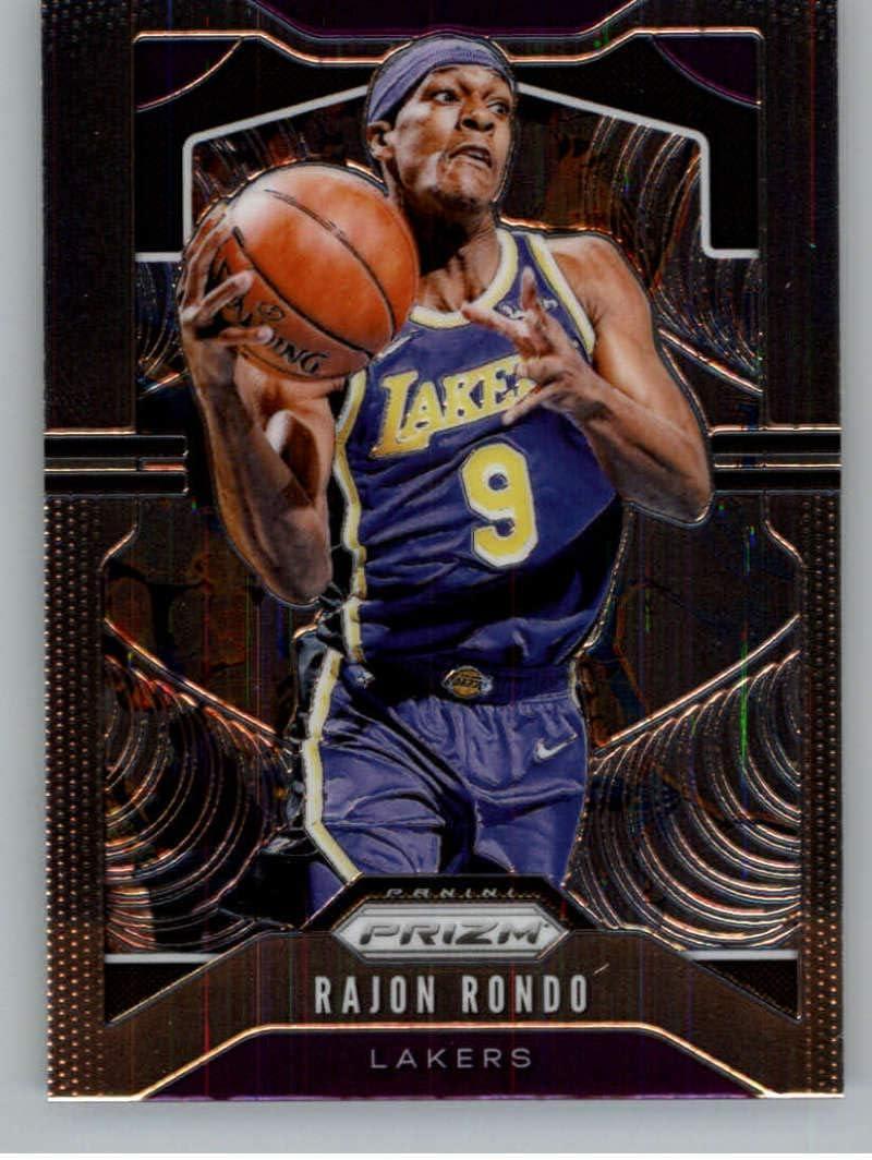 2019-20 Panini Prizm #223 Rajon Rondo Los Angeles Lakers NBA Basketball Card NM-MT