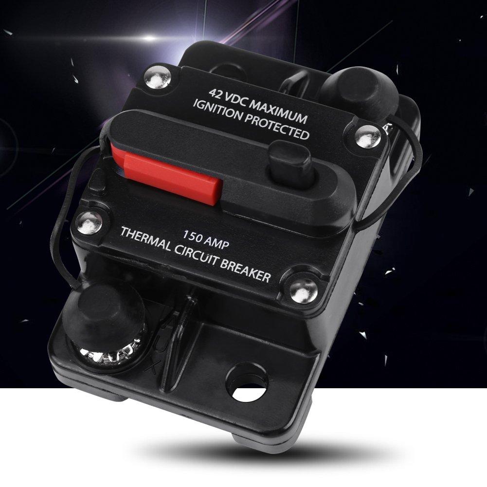 DC12V-42V Inline Schutzschalter f/ür Autoradio Auto Audio Leitungsschutzschalter 50A 80A 100A 150A 200A 250A optional 100A
