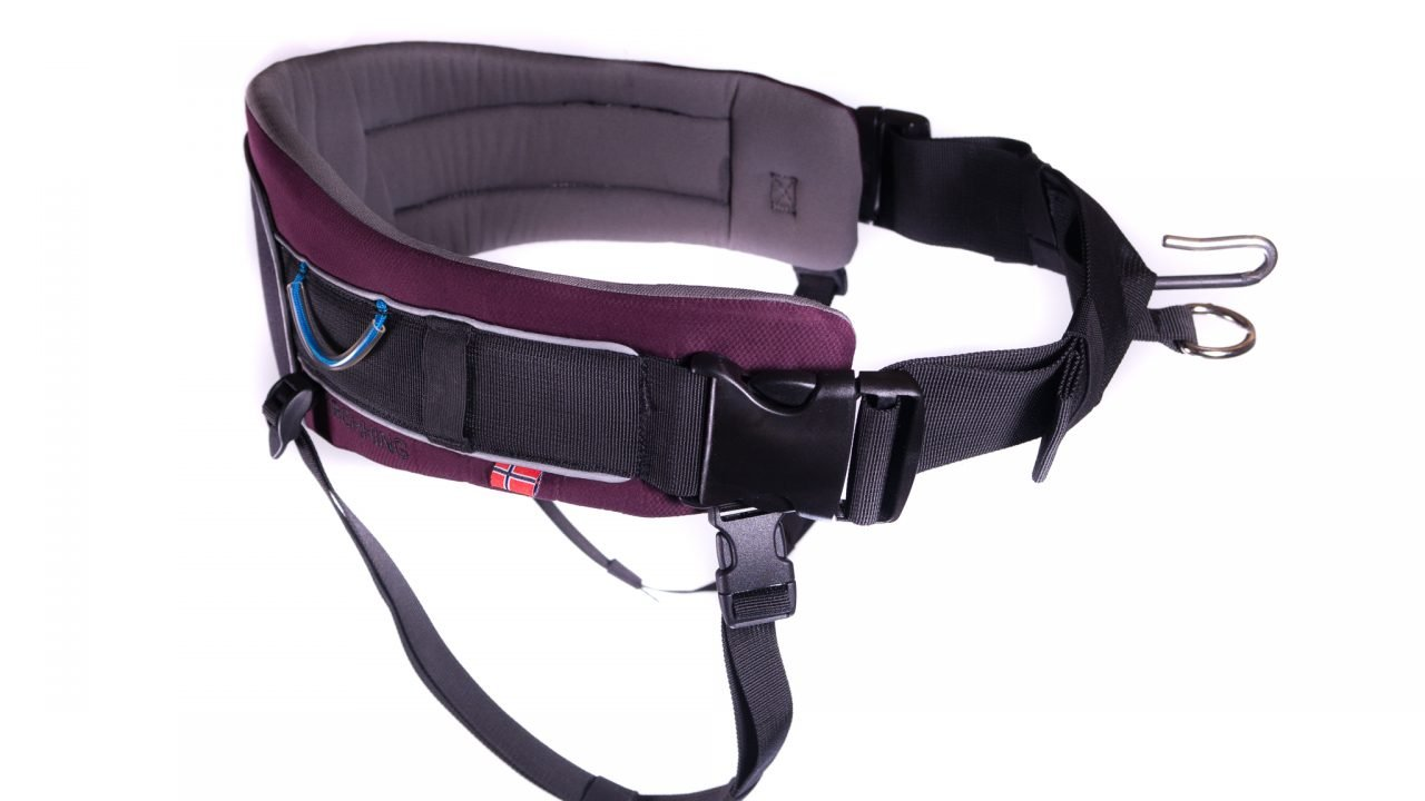 Non-stop dogwear Trekking Belt, Adjustable, Size M, Purple, for Active Dog Owners, 1 Pack by Non- Stop- Dogwear