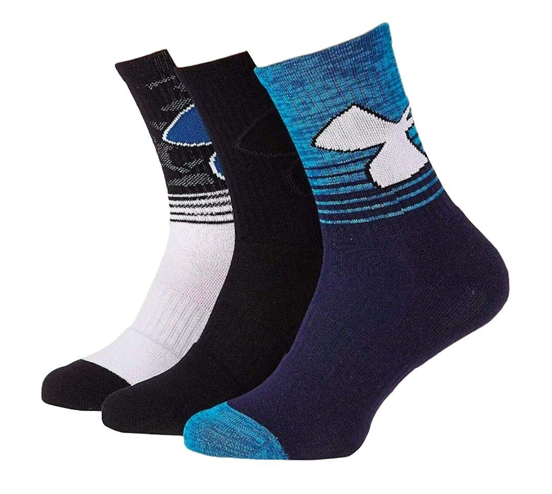 Under Armour Youth Boy`s Crew Socks 3 Pack Size 4Y-8Y by Under Armour
