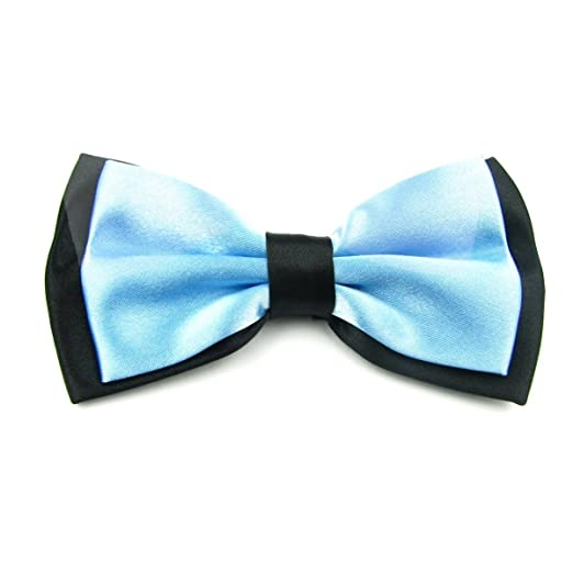 557325a4b8a8 Mens Blue and Black Formal Event Pre-Tied Bow Ties (Baby Blue) at Amazon  Men's Clothing store: