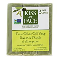 Kiss My Face Soap Bar 3pk Pure Olvo