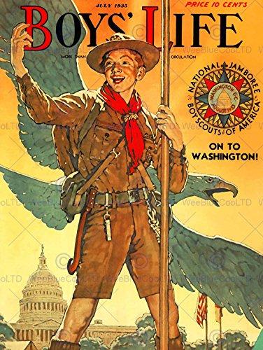 Bumblebeaver Comics Boys Life BOY Scout Eagle White House Jamboree USA Poster Print ABB6394B