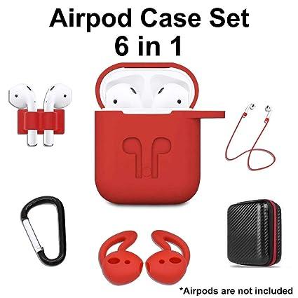 Amazon.com: 6 en 1 Funda para Airpod, kit de accesorios ...