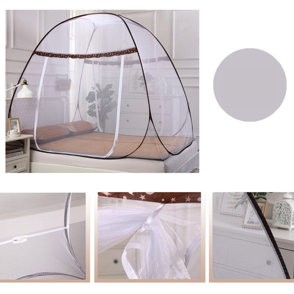 Portable Folding Mosquito Net for Bed Pop-up Anti Mosquito Net Bed Guard Tent Mosquito Nettings Canopy Curtains for Baby Toddlers Kids Adult by E Support