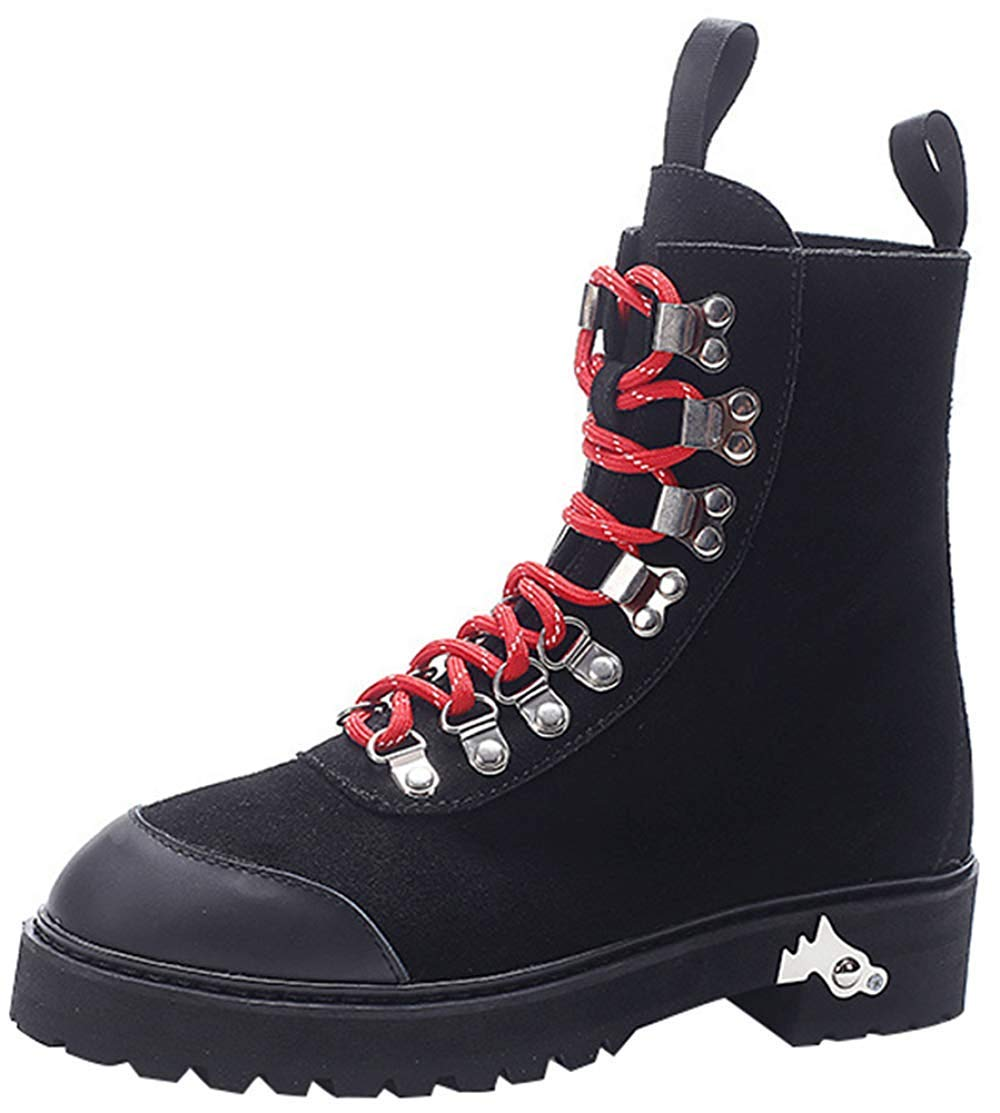 Oudan Weibliche Flut Schuhe Personalisiert Martin Stiefel (Farbe : Schwarz, Größe : 36EU)