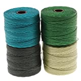BeadSmith Super-Lon Cord - Ever Green Mix - Four 77 Yard Spools / Size 18 Cord