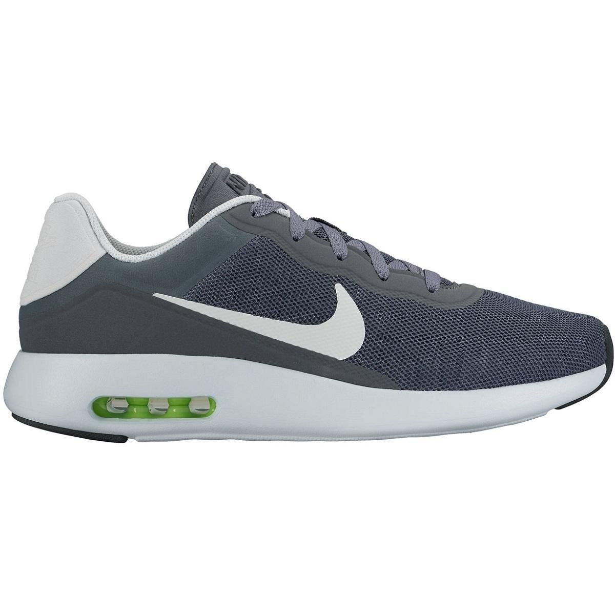 Nike Mens Air Max Modern Essential Mesh Trainers B01N637CD2 EUR 47 Dark Grey/Black/Volt
