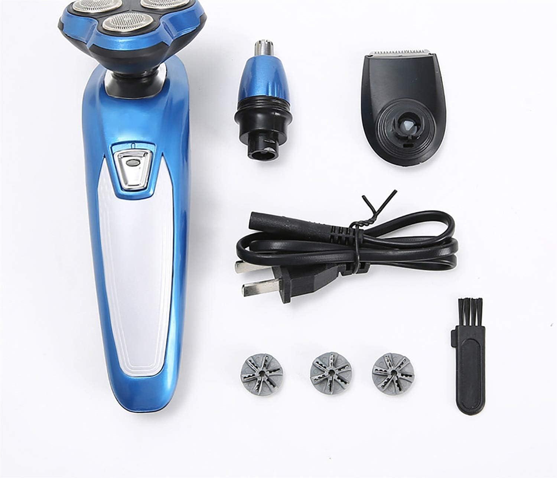 Zhtupi Máquina de Afeitar eléctrica Impermeable Hombres del Afeitado Barba Trimmer límite Peine Kit de Aseo Rotary 3 en 1 inalámbrico de Cuerpo de Nariz Trimmer Pelo Impermeable con USB 3D Floating