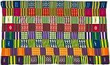 Fair Trade Kenya African Ghana Kente Cloth, 58 '' Across Approximately, #7738