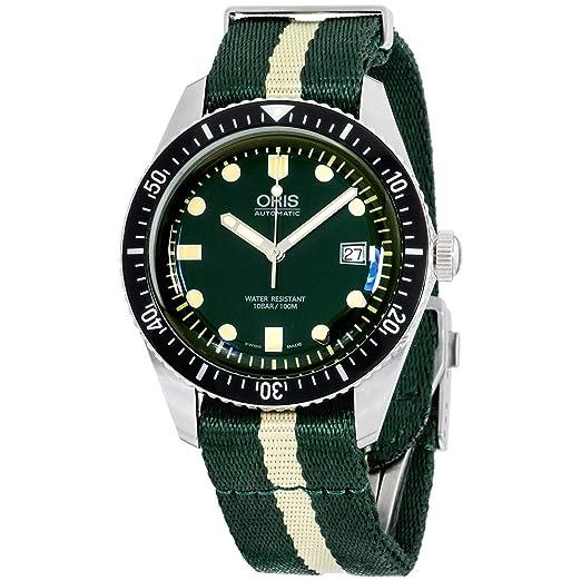 Oris buceadores sesenta y cinco para hombre luminoso reloj automático de buceo – verde cara verde