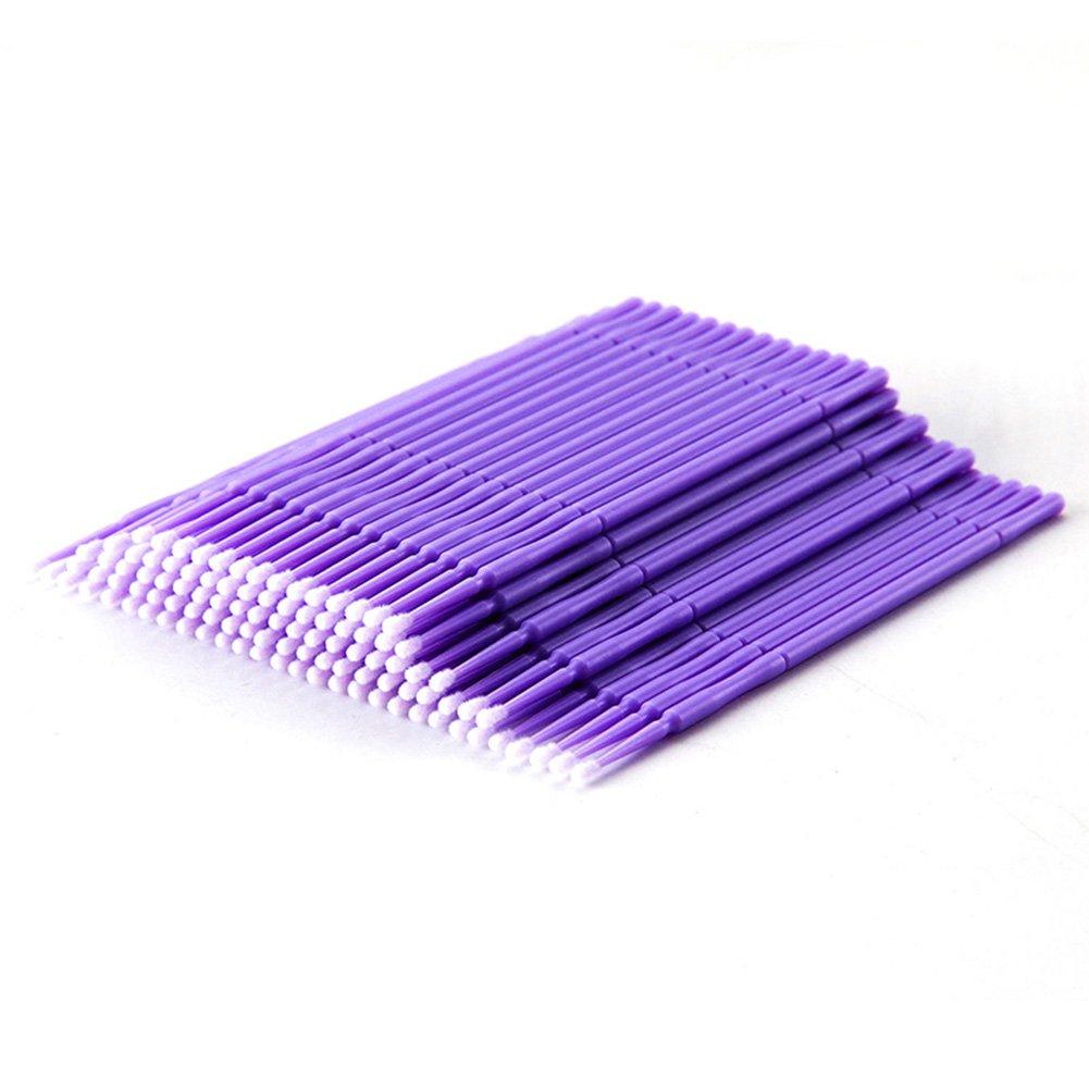 Gracefulvara 100Pcs Micro Swab Brush Disposable Applicators for Eyelash Extension