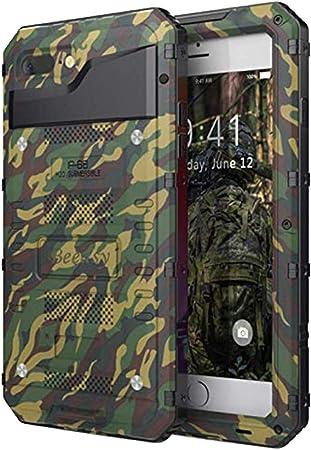 Beeasy Cover iPhone 7 Plus Impermeabile Antiurto Camuffare, iPhone 8 Plus IP68 Waterproof Custodia Protettiva Full Body con Protezione dello Schermo, ...