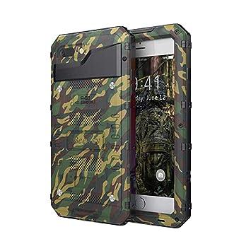 Beeasy Funda Sumergible iPhone 7 Plus/ 8 Plus, [Antigolpes] Carcasa Impermeable Resistente Reforzada Acuática Waterproof Metálica Grado Militar ...