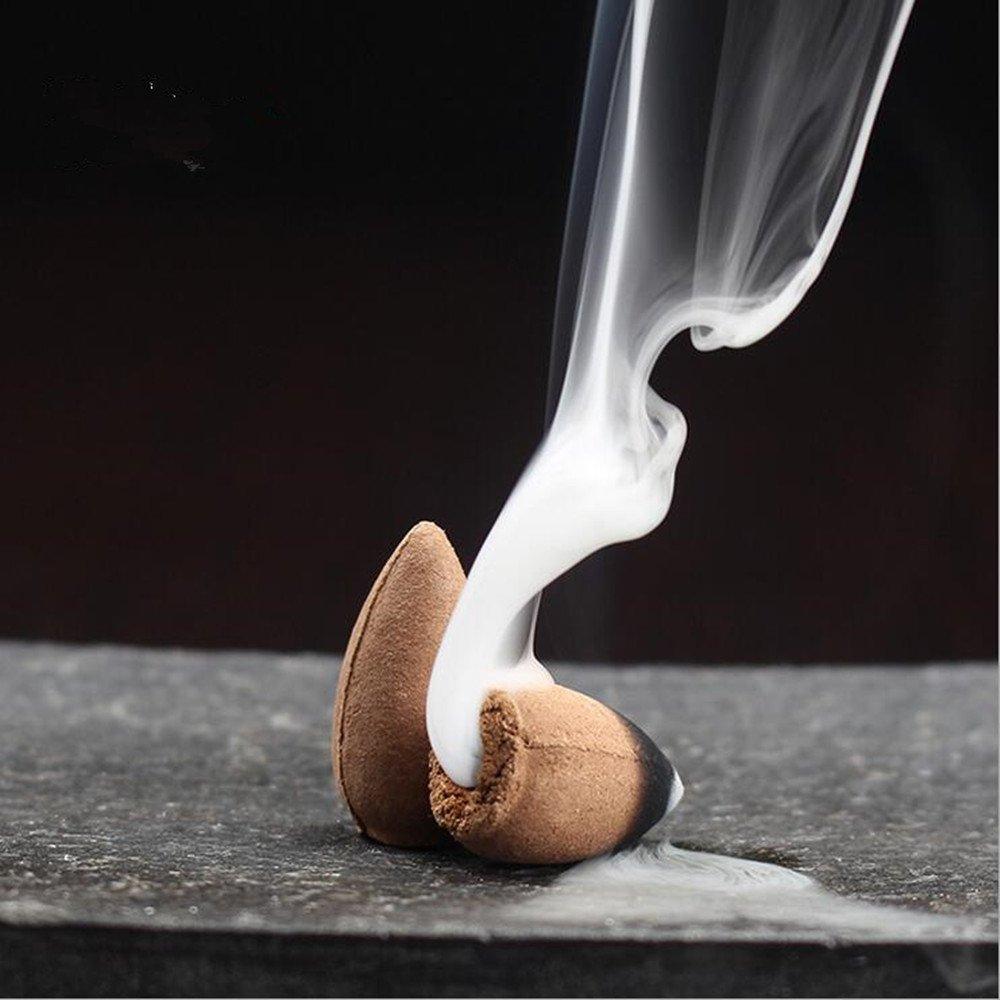 Startdy Backflow Natural Smoke Pagoda Indoor India Qinan Incense Cone Bullet Aromatherapy for yoga meditation 45pc/box DQN