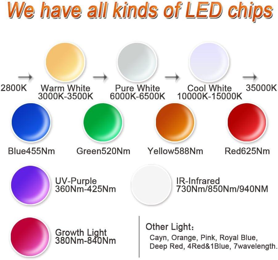 Hontiey High Power LED Chip 20W Pure White Light 6000K-6500K Bulbs 20 Watt Beads DIY Spotlights Floodlight COB Integration Lamp SMD