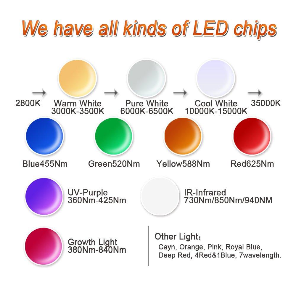 10 Pcs Hontiey High Power Led Chip 1w Cool White Light 10000k 15000k 3v 3w Amber 55lm Rapid Online Cold Bulbs 1 Watt Beads Diy Spotlights Floodlight Cob Integration Lamp Smd Amazon