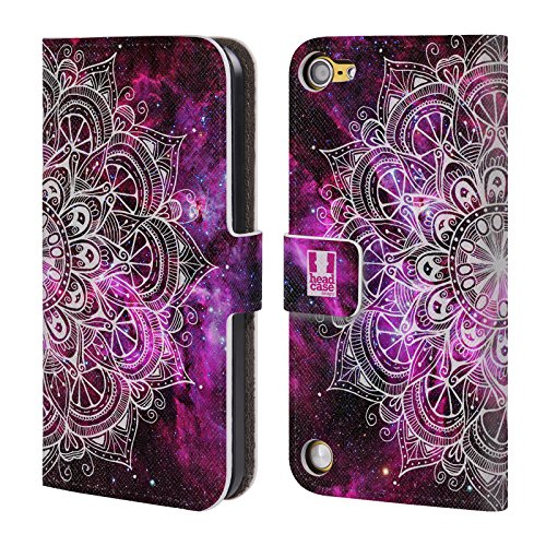 Head Case Designs Nebulosa Mandala Doodles Cover a portafoglio in pelle per iPod Touch 5th Gen / 6th Gen