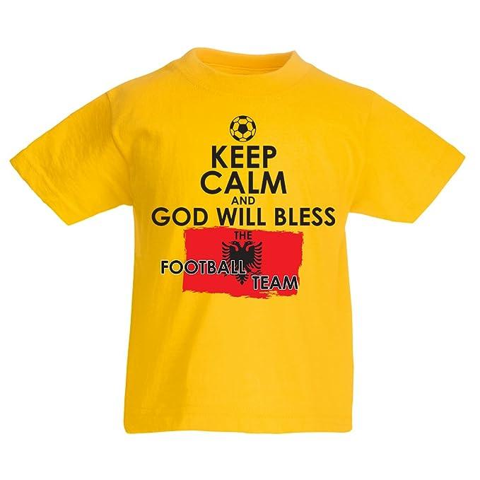 Camiseta Niños/Niñas Dios bendecirá al Equipo de Fútbol Nacional Albanés - Campeonato, Equipo