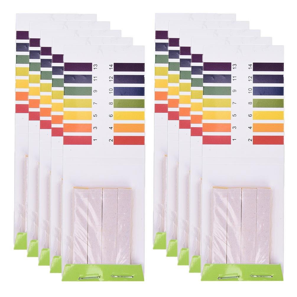 TUANTUAN 10 Packs PH Test Strips PH 1-14 Test Indicator Litmus Paper Strips Tester for Saliva Urine Water Soil Testing (800 Strips)