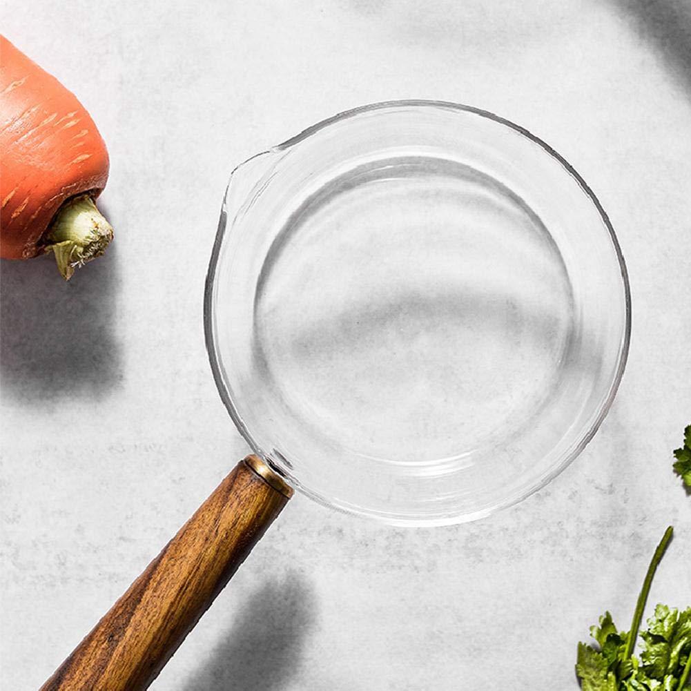 600ML Pentola Trasparente Riscaldabile 400ML awhao Pentola Cottura in Vetro Fornello in Vetro Trasparente per Insalata Frutta Latte di Pasta Istantaneo Speciale per Alimenti per Bambini Landmark