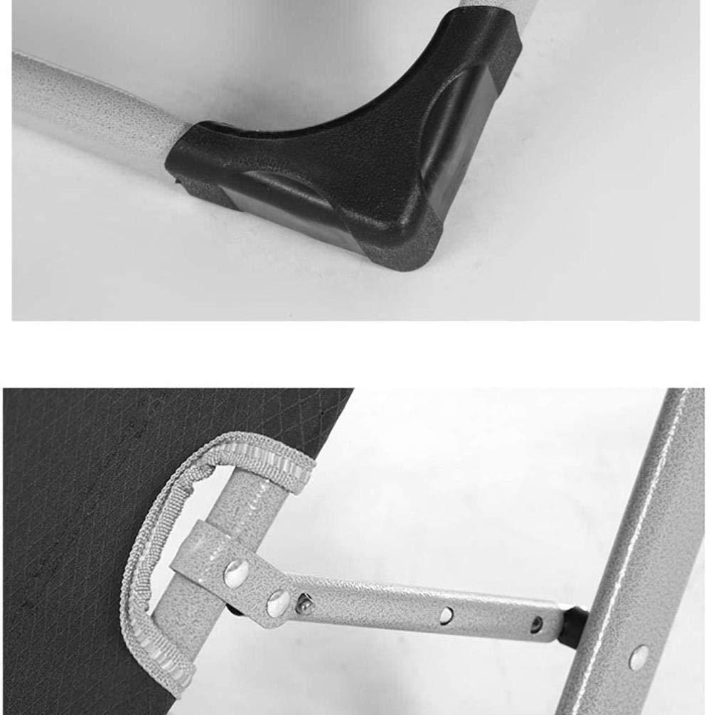 Sun Lounger bärbar hopfällbar stol fåtölj fåtöljstol trädgårdsstol kontor matsalsstol utomhus-campingstol Sunbed, tyngdlöshet, sista 200 kg xiuyun (färg: Grey) grå